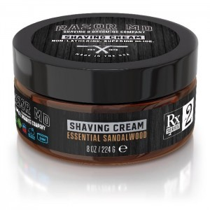 Essential Sandalwood Shave Cream 8oz