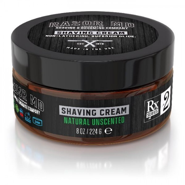 Natural Unscented Shave Cream 8oz